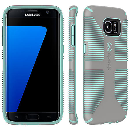 sports shoes 96b50 5d546 Speck CandyShell Grip for Samsung Galaxy S7 Edge (Sand Grey/Aloe ...