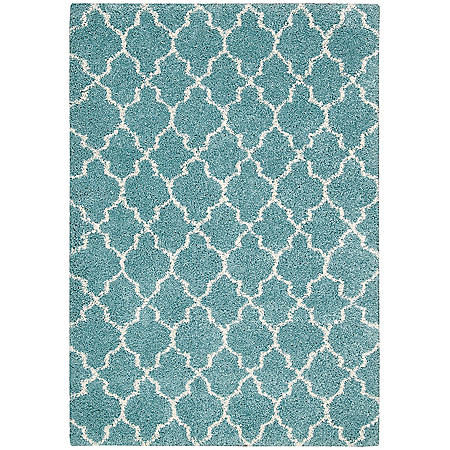 Nourison Bay Hill Rug, Aqua (Assorted Size)