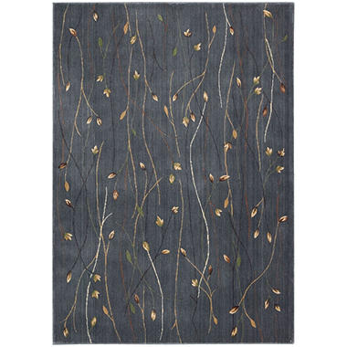 Nourison Rosewood Rug, Blue (Assorted Sizes)