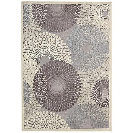 Nourison Corona Modern Rug, Grey (Assorted Sizes)