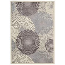 Nourison Corona Modern Rug, Grey (Assorted Sizes)
