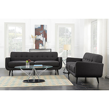 Hailey Loveseat - Charcoal