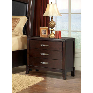 Elaine Nightstand with Power Strip and USB Ports