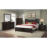Harland Bed with Upholstered Headboard Bedroom Set (Choose Size ...