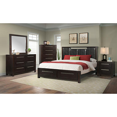 . Lydia Platform Storage Bed Bedroom Set  Assorted Sizes    Sam s Club