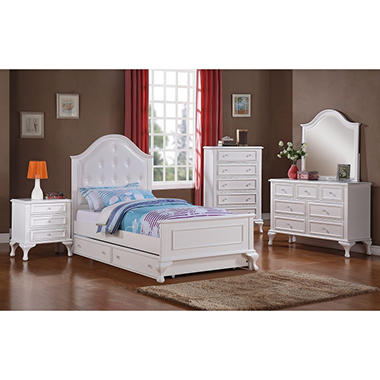 Jenna Full Bed With Rolling Trundle Bedroom Set Assorted Sizes