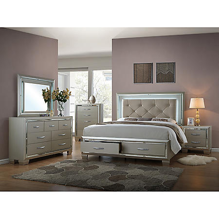Glamour Bedroom Furniture Set (Assorted Sizes)