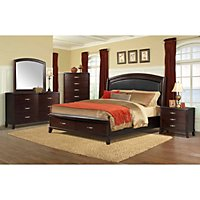 Brinley Cherry Storage Bedroom Set (Choose your Size) - Sam\'s Club