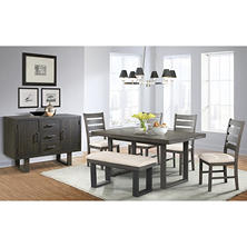 sullivan dining table side chairs bench and server 7piece set