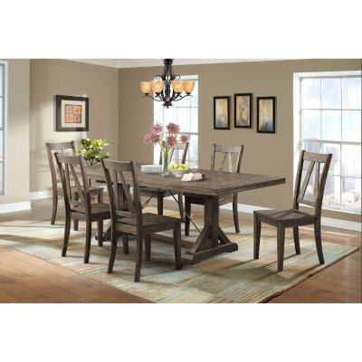 Flynn Dining Table And Side Chairs, 7 Piece Set