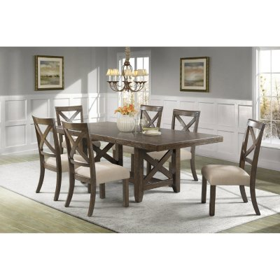 Francis Dining Table And Side Chairs, 7 Piece Set
