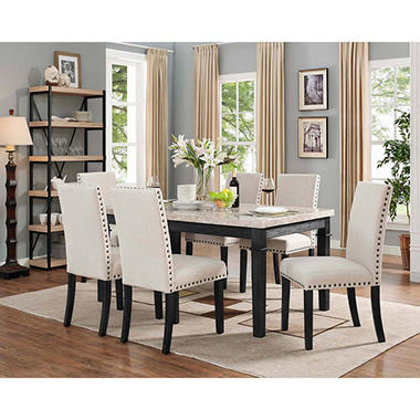 7 piece dining set outdoor bradley 7piece dining set table upholstered side chairs