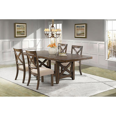 Francis Dining Table and Side Chairs, 5-Piece Set