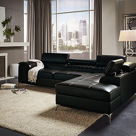 Worth Sectional - Black