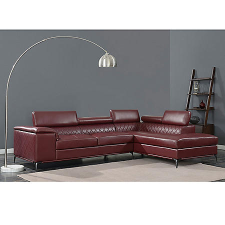 Worth Sectional - Red