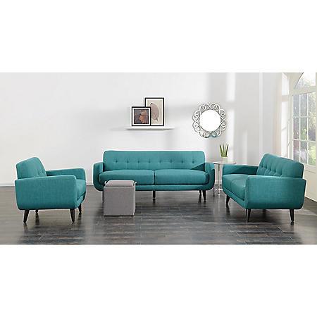 Hailey 3-Piece Sofa Set - Teal - Sam\'s Club