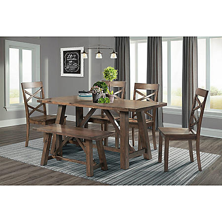 Reagan Dining Set - Walnut