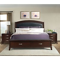 Brinley Cherry Storage Bedroom Set (Choose your Size) - Sam\'s Club