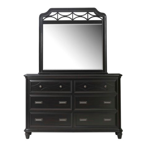 Mysteria Bay Dresser & Mirror Set, Black