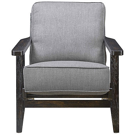 Mercer Accent Chair with Antique Legs (Various Colors)