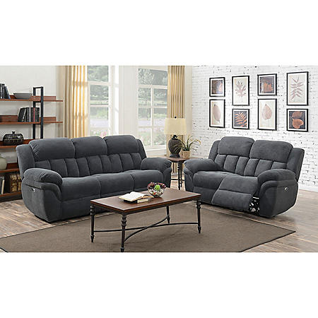 Celeste Power Motion Loveseat - Carbon