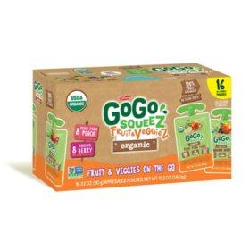 GoGo SqueeZ Fruit & Veggiez Organic Variety Pack (3.2 oz., 16 ct.)