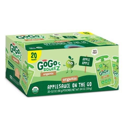 GoGo SqueeZ Organic Applesauce (3.2 oz., 20 ct.)