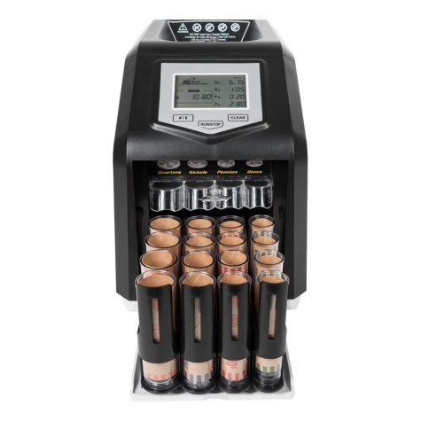 Royal Sovereign Digital 4 Row Electric Coin Sorter, Holds Up To 800 Coins