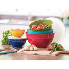 Melamine Bowls with Lids, 10-Piece Set (Assorted Colors)