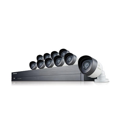 Samsung 16 Channel 1080p HD Security System with 2TB Hard Drive, 10 1080p Weather Resistant Cameras, and 82' Night Vision