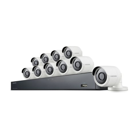 Samsung 16-Channel 4MP Surveillance System with 2TB Hard Drive, 10-Camera 4MP Indoor/Outdoor Cameras