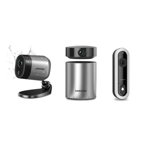 Samsung SmartCam A1 Home Security System: D1 Video Doorbell with Facial Recognition Technology, 350° Indoor Station Hub and 1080p Camera & 720p Weather Resistant Outdoor Camera