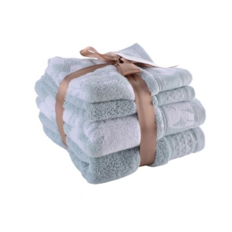 Loftex Luxury Collection 4-Piece Hand Towel & Wash Cloth Bundle (Assorted Colors)