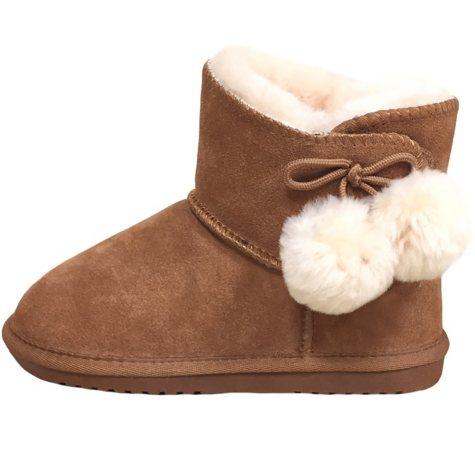 Kids' Pom Pom Sheepskin Boot