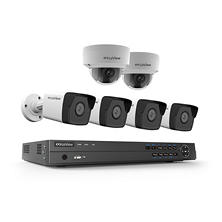 LaView 8-Channel 4K IP NVR Security System with 2TB Hard Drive, 4x 4MP Bullet Cameras and 2x 4MP Dome Cameras with 100' Night Vision