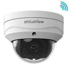LaView 2MP Weatherproof Wi-Fi IP Surveillance Dome Camera with PoE, Motion Detection, and 100' Night Vision