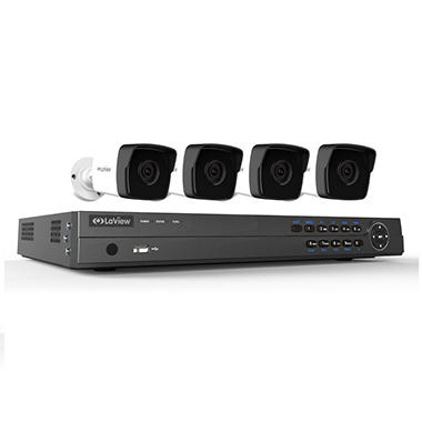 LaView 8 Channel 4K IP NVR Security System with 2TB Hard ...