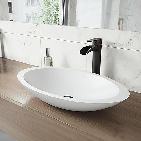 VIGO Niko Vessel Bathroom Faucet (Antique Rubbed Bronze)