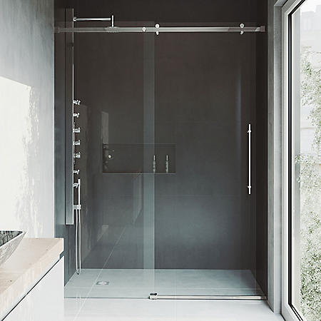 Vigo Luca Adjustable Frameless Sliding Shower Door