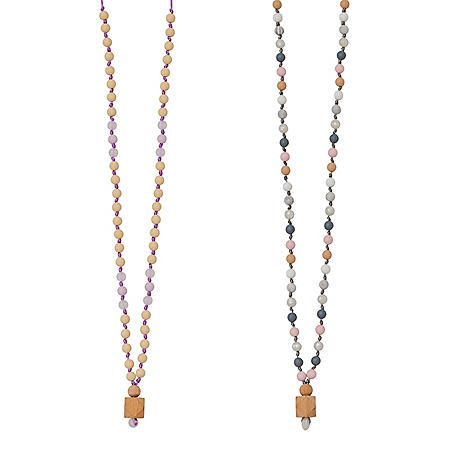 Anjie + Ash Goddess Collection Clarity + Harmony Teething Necklace Set