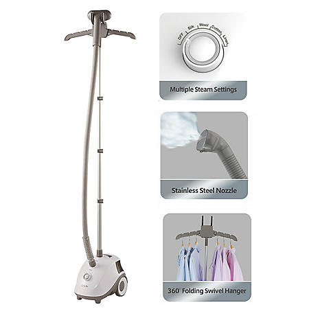 SALAV GS24-BJ Garment Steamer with Stainless-Steel Steam Nozzle, White