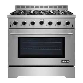 """Nxr Stainless Steel 36"""" Gas Range With Led by Nxr"""