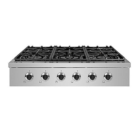 "NXR Stainless Steel 36"" Gas Cook Top with 6 Burners"