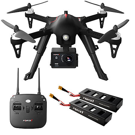 Force1 F100 RC Brushless Motor 1080P HD Drone With Extra Battery