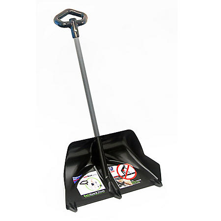 """24"""" Safeguard Pusher+ Show Shovel with Injury Avoidence Safety Blade and Anti-Back Pain Handgrip"""