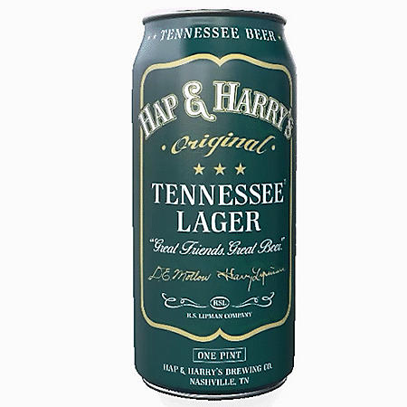 Hap & Harry's Tennessee Lager (16 fl. oz. can, 4 pk.)