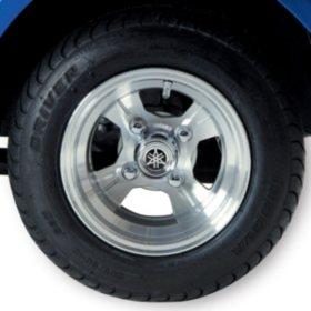 "Yamaha Factory OEM Golf Car 10"" Alloy Tire/Wheel Set (4)"