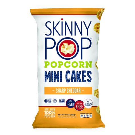 SkinnyPop Sharp Cheddar Popcorn Mini Cakes (13 oz.)