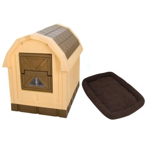 ASL Solutions Tan Insulated Dog Palace & Bed Combo