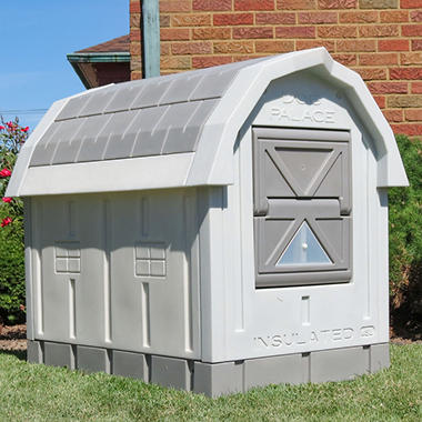 ASL Solutions Deluxe Insulated Dog Palace with Floor Heater, Grey (38.5